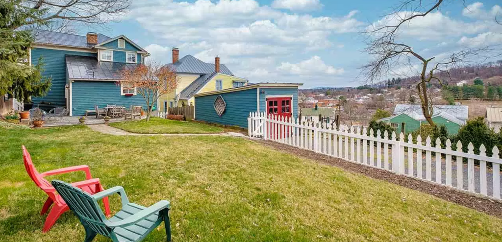 gorgeous view of downtown staunton from the backyard
