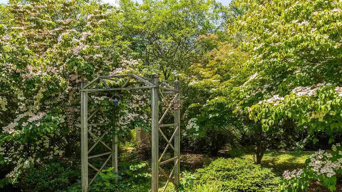secret garden on ridgeway backyard arbor