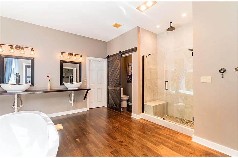 cotw bathroom goals master suite bath with glass rainhead shower