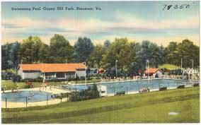 gypsy hill park pool vintage postcard