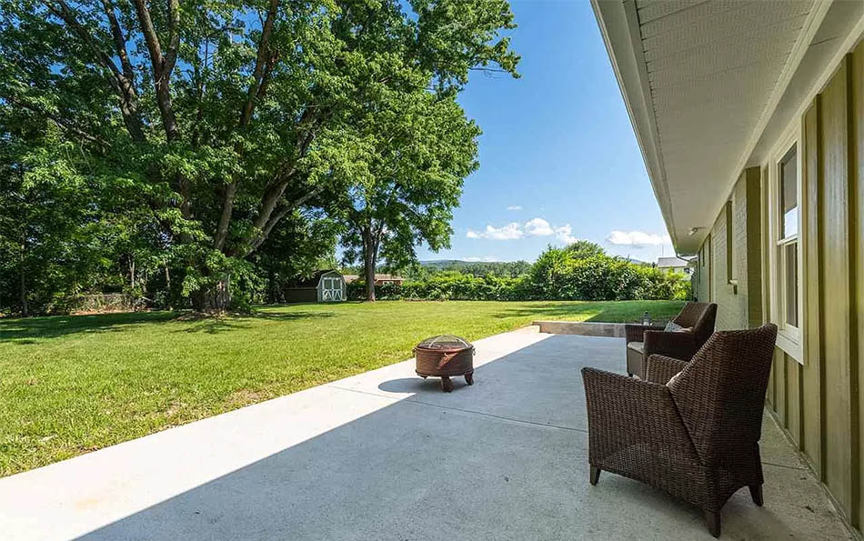 luxury in lyndhurst backyard patio with a view
