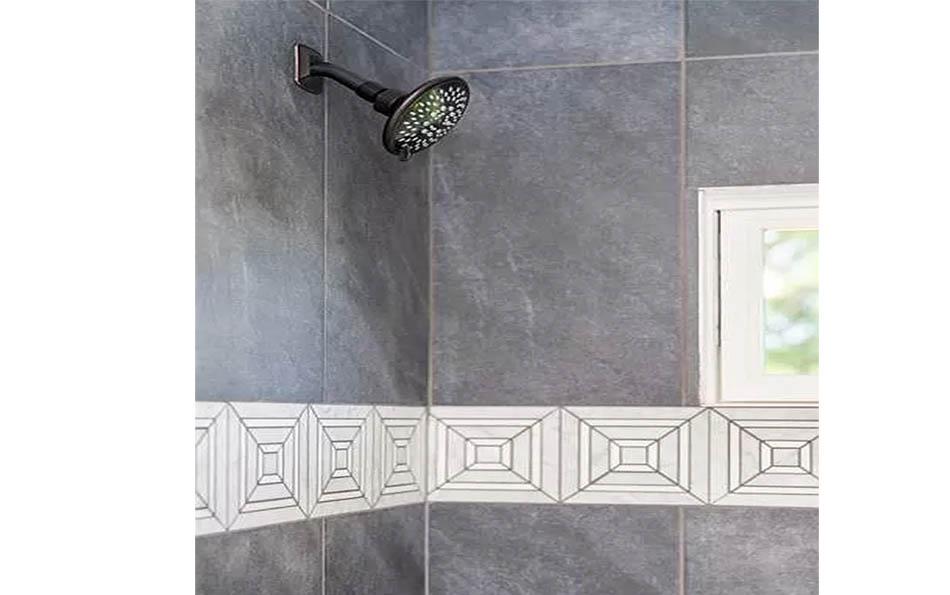 luxury in lyndhurst closeup of shower tile