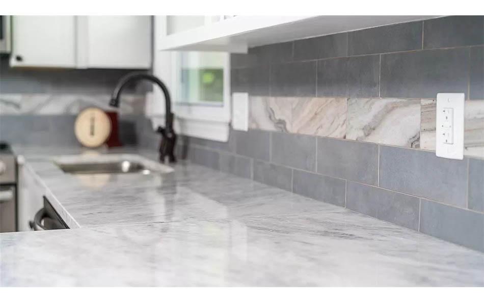 luxury in lyndhurst closeup of kitchen tile backsplash