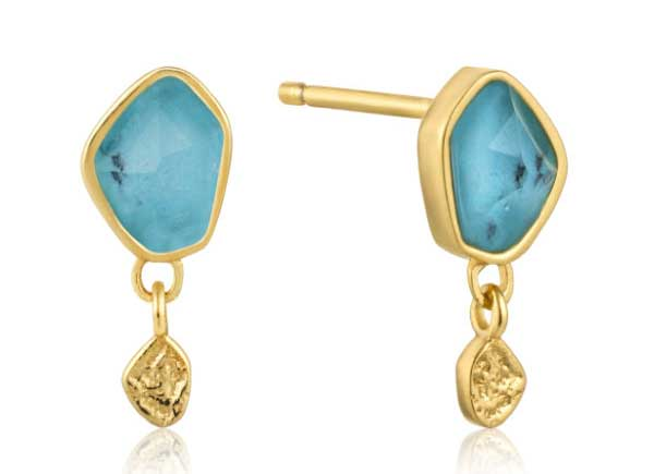 Turquoise earrings can be deliverd to your door from HL Lang. Nothing like some bling for a mood boost.
