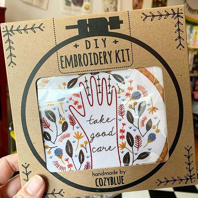 Boost your mood with a creative activity, like this diy embroidery kit from Made by the People