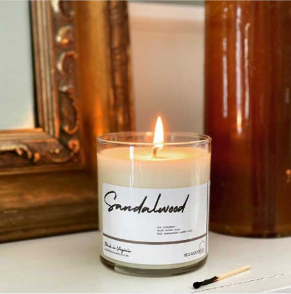 The aroma of redwood & co artisanal candles will enhance anyone's mood.