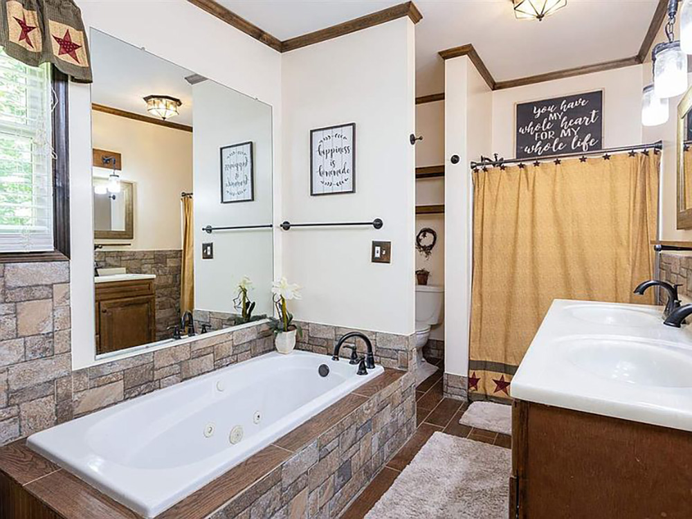cotw modern rustic gorgeous master bath