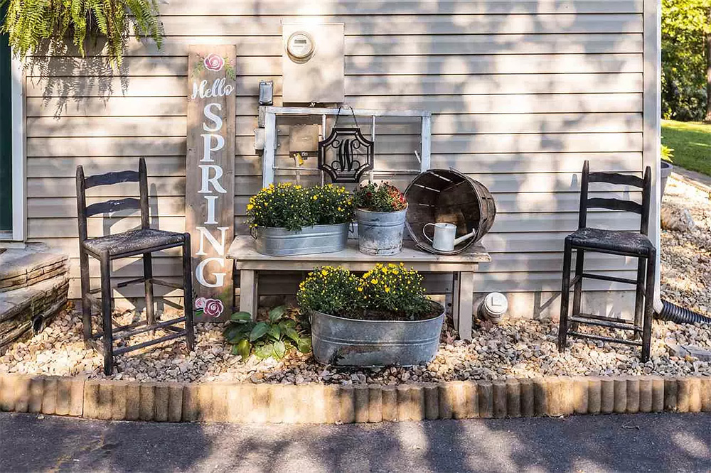cotw modern rustic outdoor table and chairs