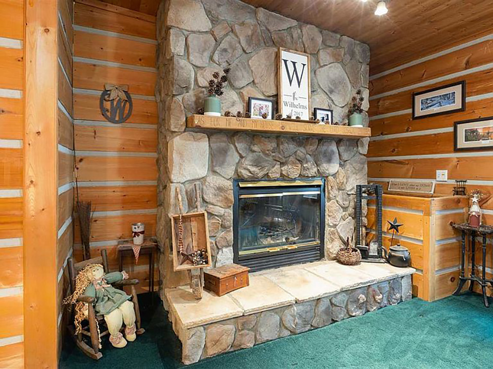 cotw modern rustic stone fireplace