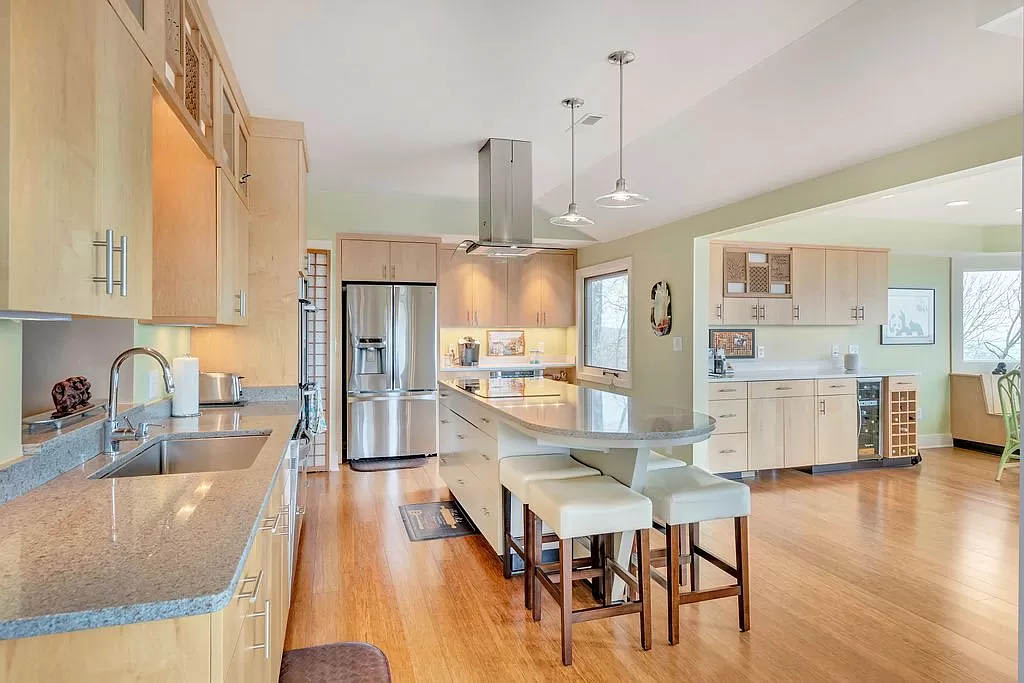 cotw mountain mama mia kitchen open to large dining area