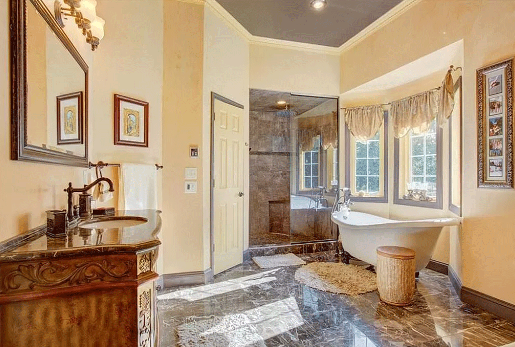 cotw victorian secret huge-master-bath-with-clawfoot-soaking-tub-and-large-glassed-stone-shower