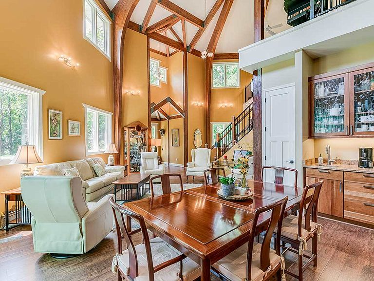 cotw welcome to the octagon open dining and living area