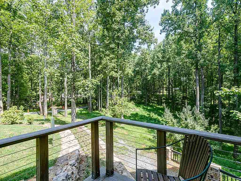 cotw welcome to the octagon wooded view off deck