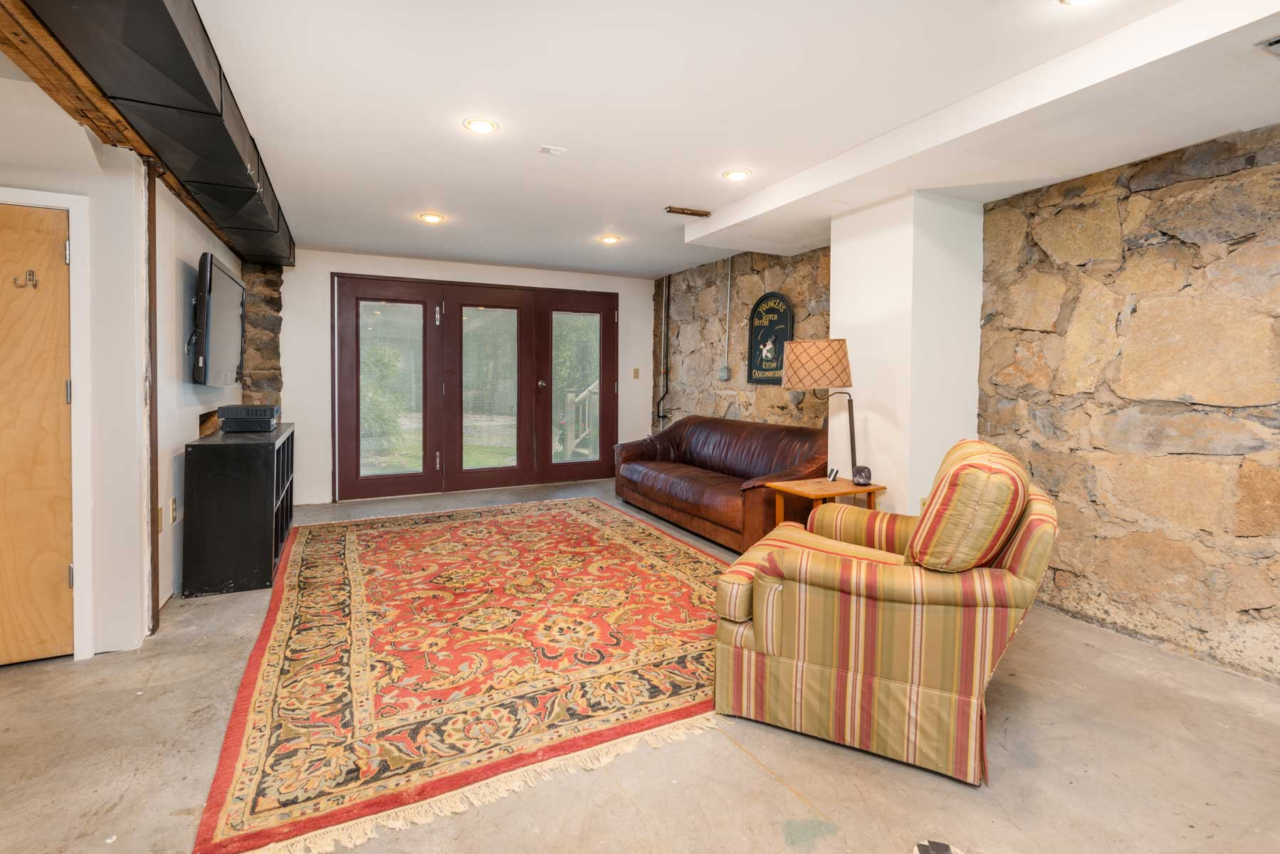 Riverfront retreat walkout basement