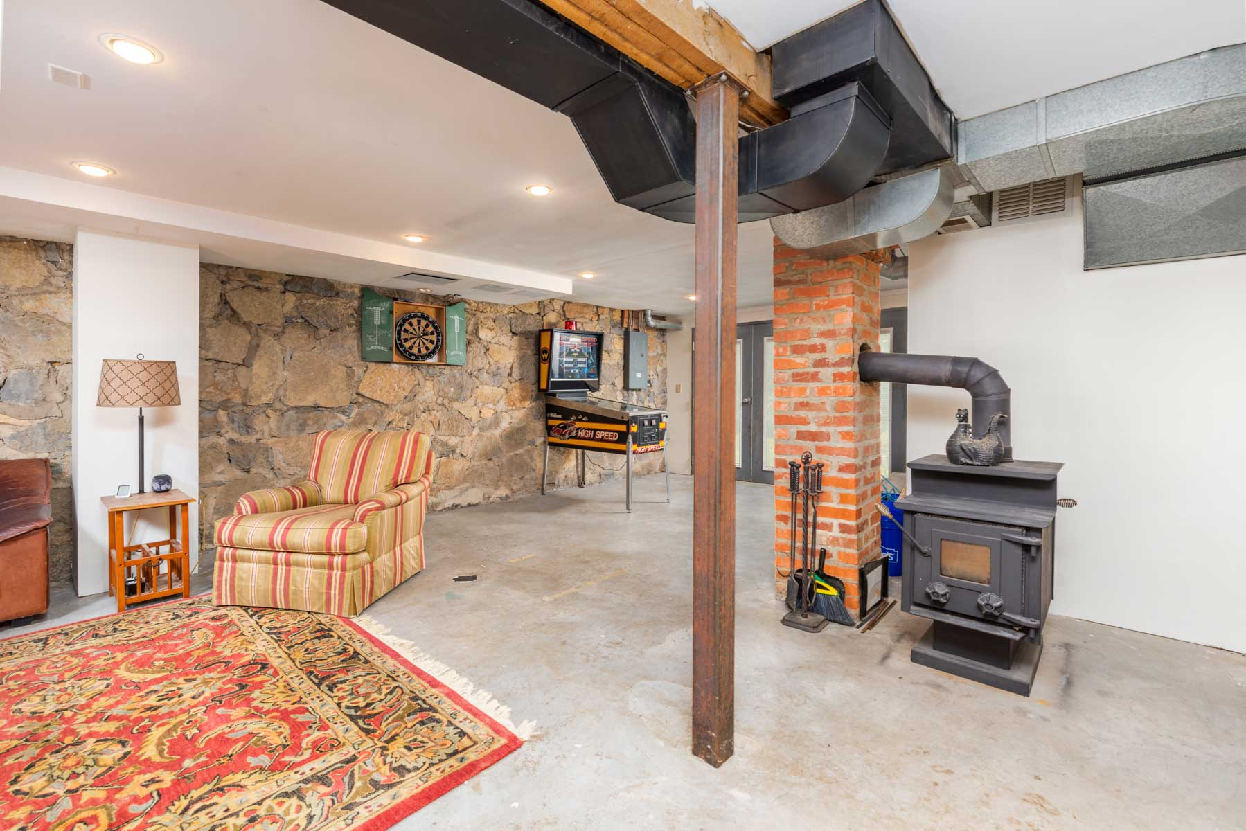 Riverfront retreat basement den