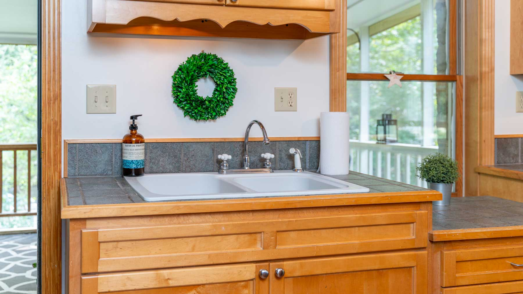 Riverfront retreat kitchen sink