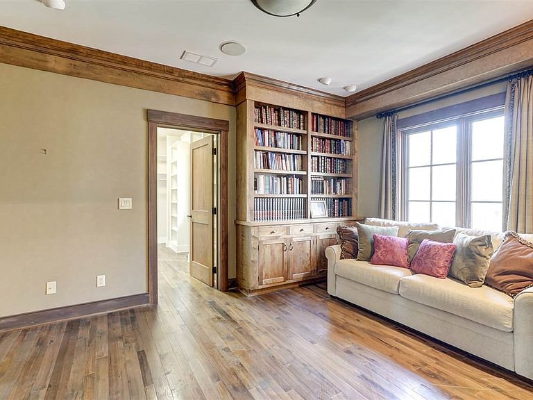 cotw modern antique library with built ins