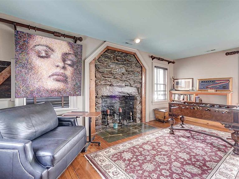 cotw modern antiquestone fireplace in game room