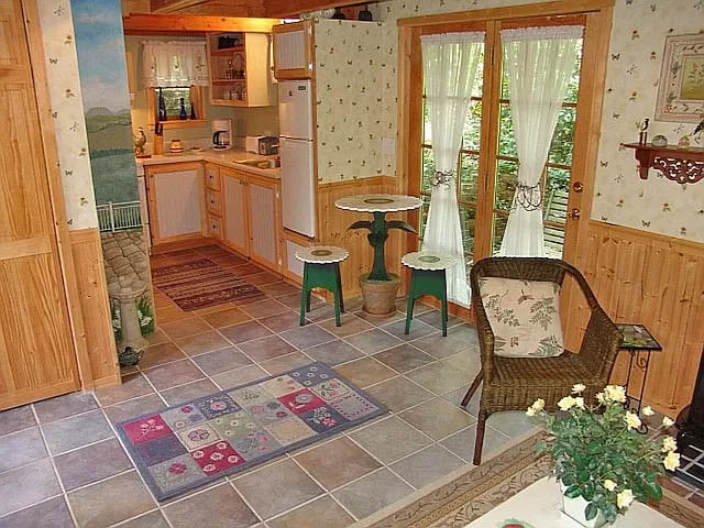 cotw teeny weenie living and dining area with french doors