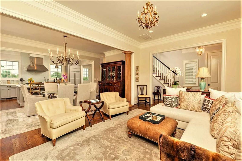 cotw top of the world formal living room open to dining and kitchen