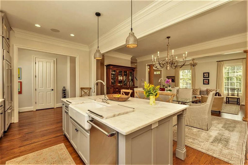 cotw top of the world kitchen island with sink and breakfast bar