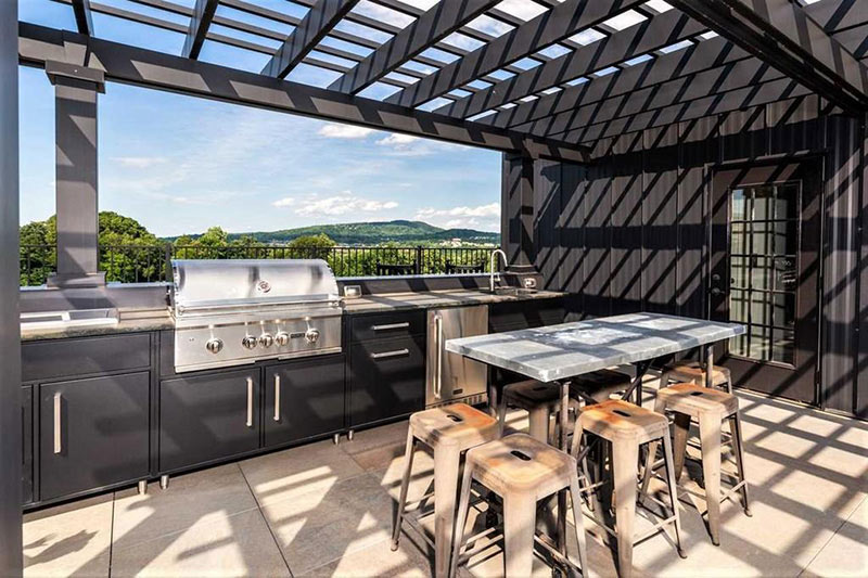 cotw top of the world rooftop kitchen and eating area