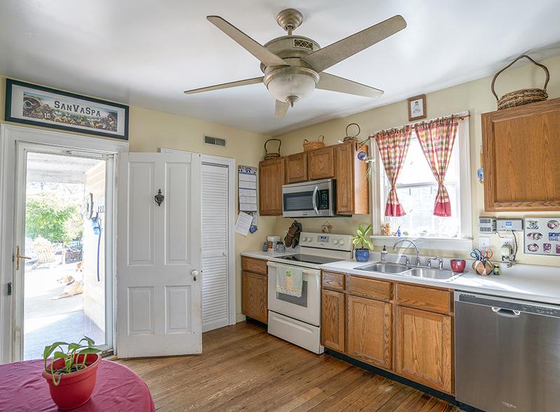 eat in kitchen and door to patio