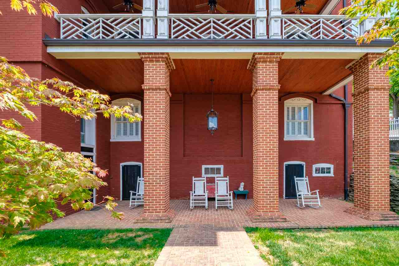 brick porch and balcony