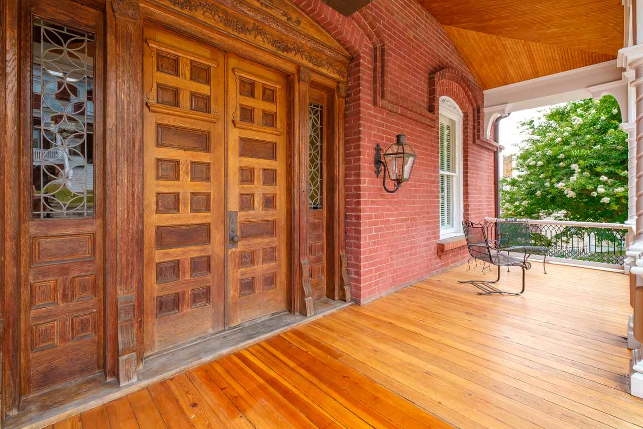 grand entryway with double doors