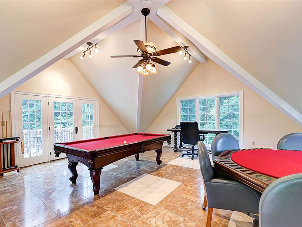 2nd floor of pool house gaming area
