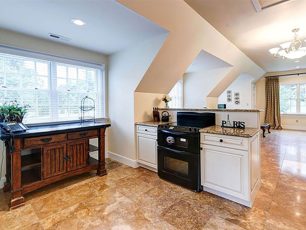 apartment kitchen through to dining