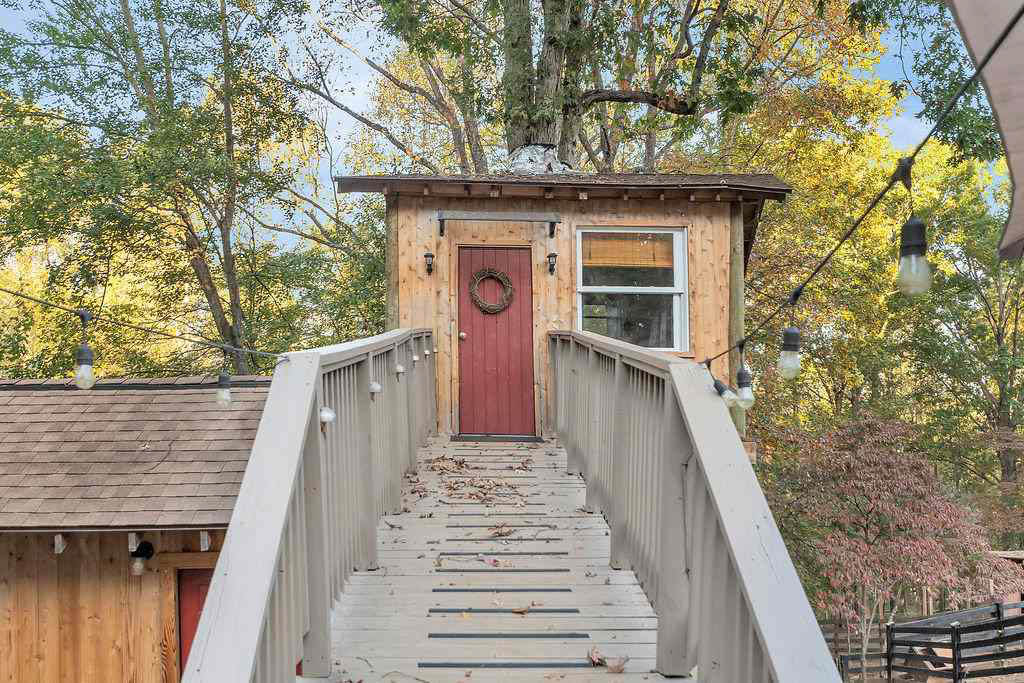 treehouse front door and steps