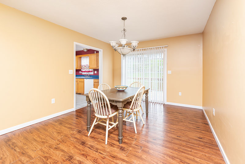 Dining Room with doors to deck