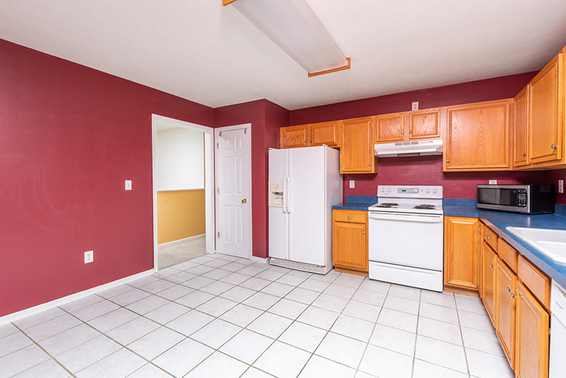 eat in kitchen and doorway to living area