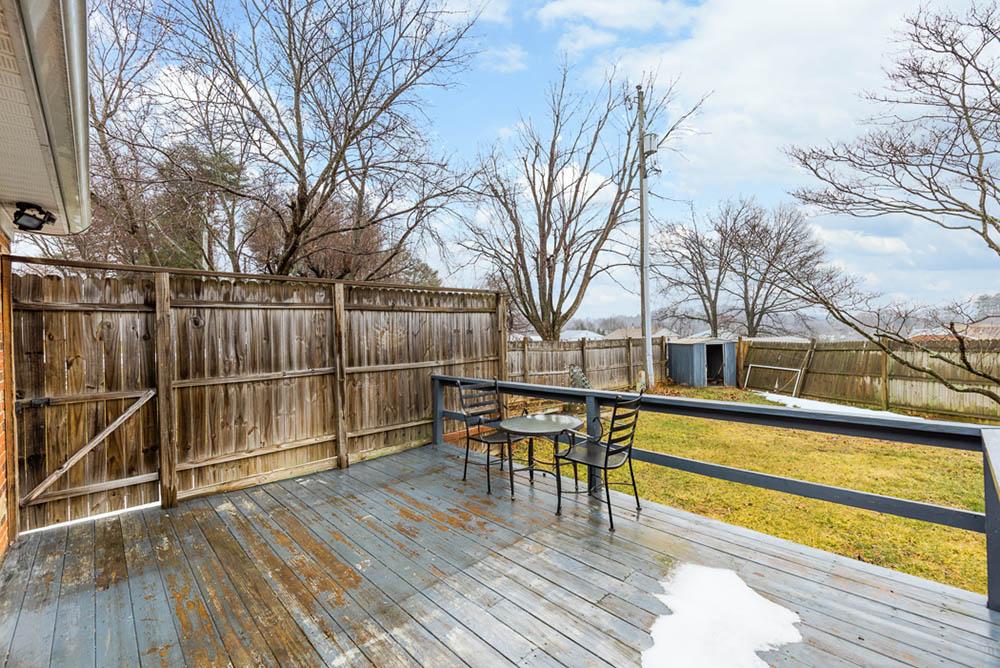 backyard deck opposite angle