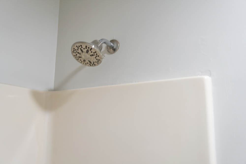 bathroom one shower head