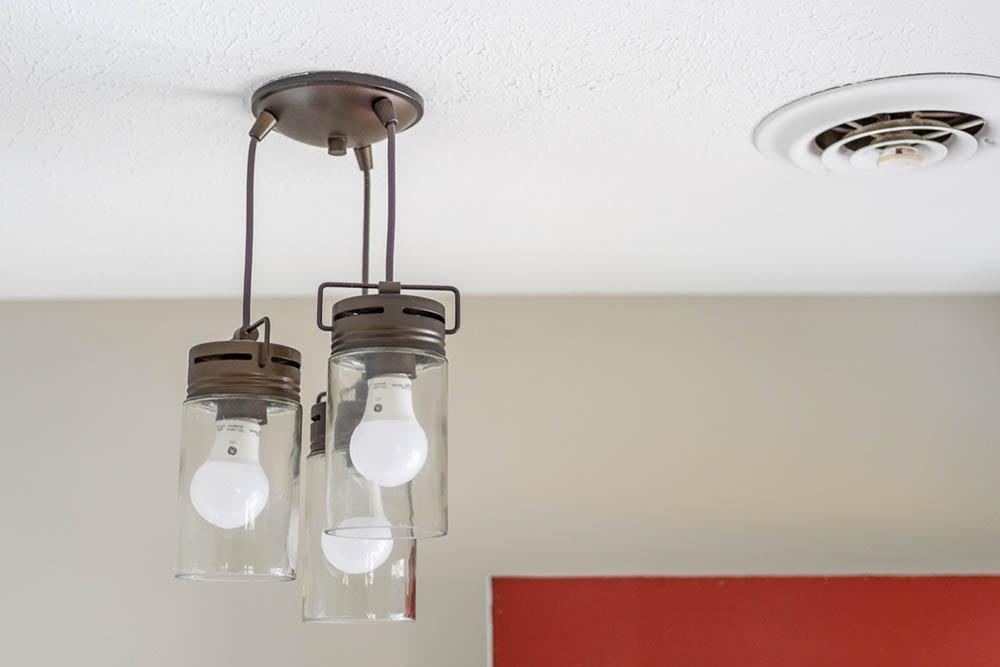 foyer light fixture detail