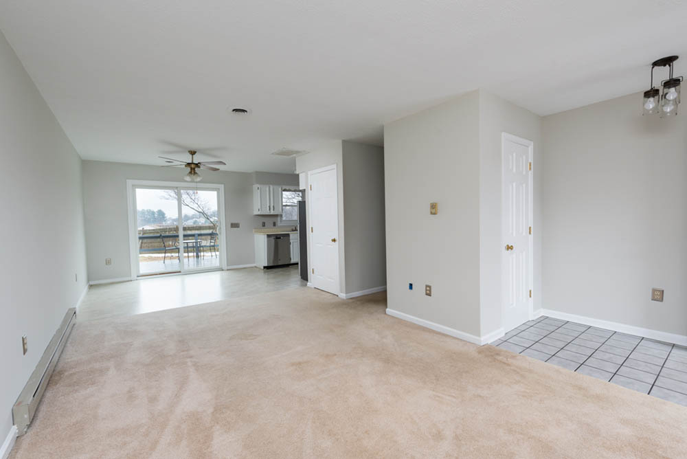 living room towards back deck